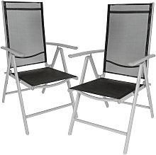 2 sillas de jardín de aluminio - mueble de