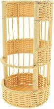 2 unidades cesta portador de pan de imitación de
