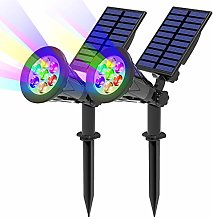 (2 Unidades) T-SUN 7LED Foco Solar, Impermeable