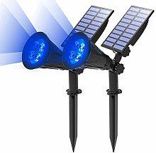 (2 Unidades )T-SUN Foco Solar, Impermeable Luces