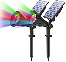 (2 Unidades ) T-SUN Foco Solar, Impermeable Luces
