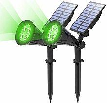 (2 Unidades) T-SUN Foco Solar, Impermeable Luces