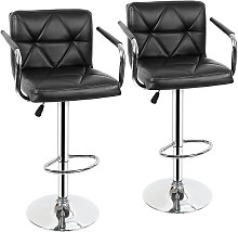 2 x silla de bar con reposabrazos, regulable en