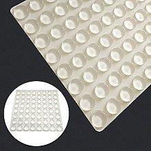 20 piezas transparente suave cojín de silicona