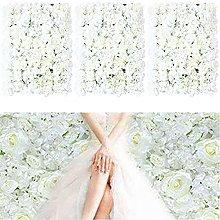 20 unidades de flores para la pared, color blanco,