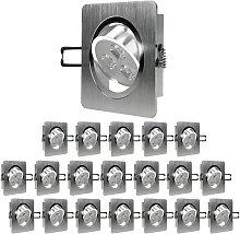 20 x LED foco empotrable LED 3W 230V - Regulable -