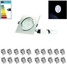 20 x LED Foco LED empotrado 5W 230V - Regulable -