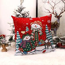 2020 Funda de almohada Santa Claus Imprimir viejo