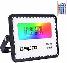 20W Foco LED RGB con Control Remoto, bapro Foco