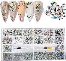 21 cuadrículas de diamantes de imitación de