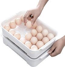 24 cuadriculas huevo Bandeja con tapa extraible de