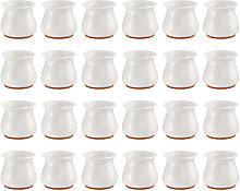 24 piezas de fundas para patas de silla, funda de