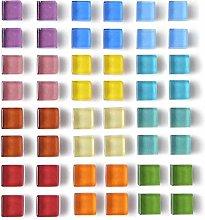 24 unidades multicolor cuadradas autoadhesivas