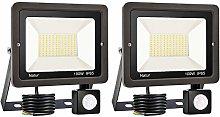 2er 100W LED Foco Exterior con Sensor Movimiento,