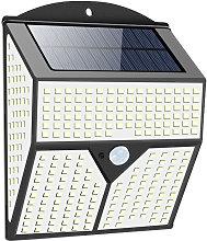 2PCS 436LED Luz solar Luz de pared de seguridad