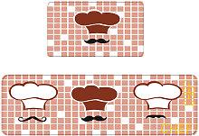 2pcs Cocina Alfombra Conjunto antideslizante