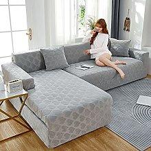 2pcs fundas de sofa en L seccional elásticas para