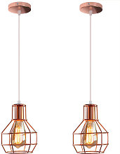2pcs Lámpara Colgante de Candelabro de Hierro