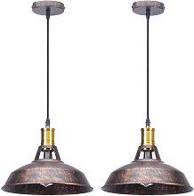 2pcs Lámpara Colgante Industrial Lámpara de