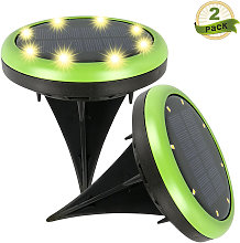 2PCS Luces de suelo LED de energ¨ªa solar Sobre