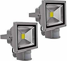 2X 20W Foco LED con Sensor Movimiento, Proyector