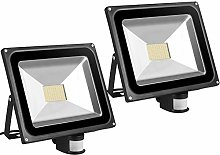 2X 80W SMD Foco LED con Sensor