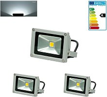 2x Foco proyector LED reflector pared exterior