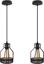 2x Gauze Net Lámpara Colgante Lámpara de Jaula