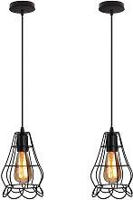 2x Lámpara de Forma de Florero Vintage Lámpara