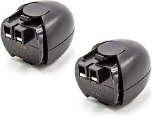2x NiMH batería 1500mAh (4.8V) para herramienta