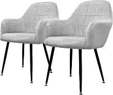2x sillon mueble de comedor oficina gris asientos