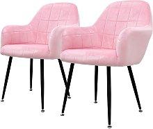 2x sillon mueble de comedor oficina rosa asientos