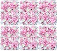 3/6 unidades de flores artificiales para pared de