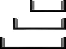 3 Estantes de pared de diseño con borde 3