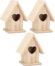 3 piezas de pajareras de madera para manualidades,