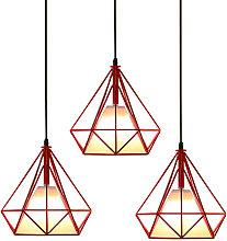 (3 Piezas)Luz Colgante de Hierro de Metal Lámpara