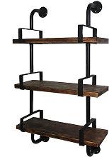 3-Tier Estantes rustico hierro industrial pared de