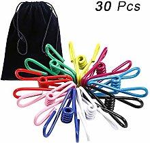 30 clips para tendedero multicolor, ganchos de