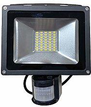 30W Foco LED con Sensor de Movimiento Proyector de