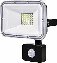 30W Foco LED Exterior con Sensor Movimiento, IP67