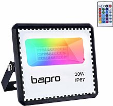 30W Foco LED RGB con Control Remoto, bapro Foco