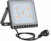 30w Foco Proyector LED Ultra Plano para exterior,