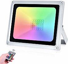 30W RGB Foco LED 16 Colores y 4 Modos IP65