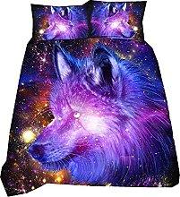 3D Atrapasueños Púrpura Galaxia Animal Tigre