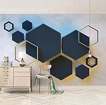 3D estereoscópico geométrico hexágono mosaico