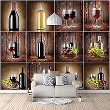 3D Fotomurales Vitrina de vino de moda
