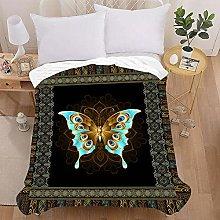 3D Manta de Franela con Impreso de Mariposa, Treer