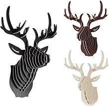 3D Modelo Ciervos Animales -walnut Escultura de