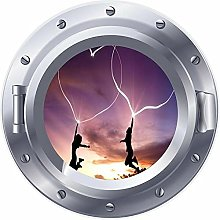 3D ojo de buey ventana amor corazones saltando