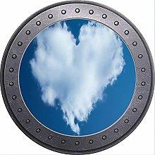 3D ojo de buey vista corazón nube cielo azul